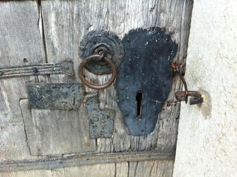 Rejält lås som inte används